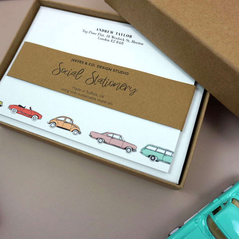 Retro Cars Notecards