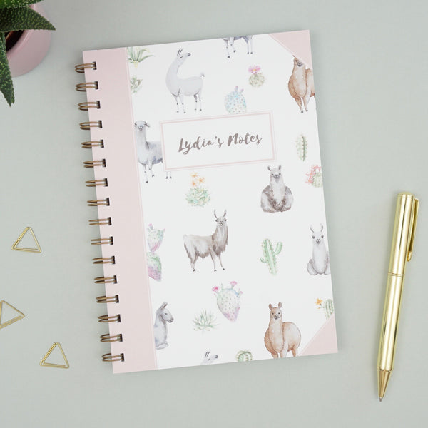 Personalised Lalallama Notebook