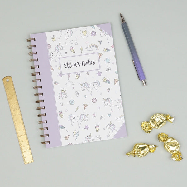 Personalised Unicorn Doddle Notebook