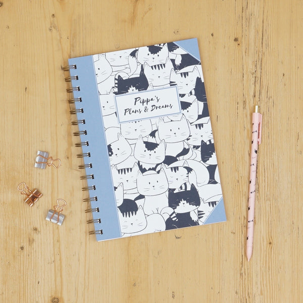 Personalised Cat Sketch Notebook