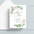 Graceful Greenery Wedding Invite