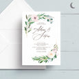 Graceful Greenery Reception Invite