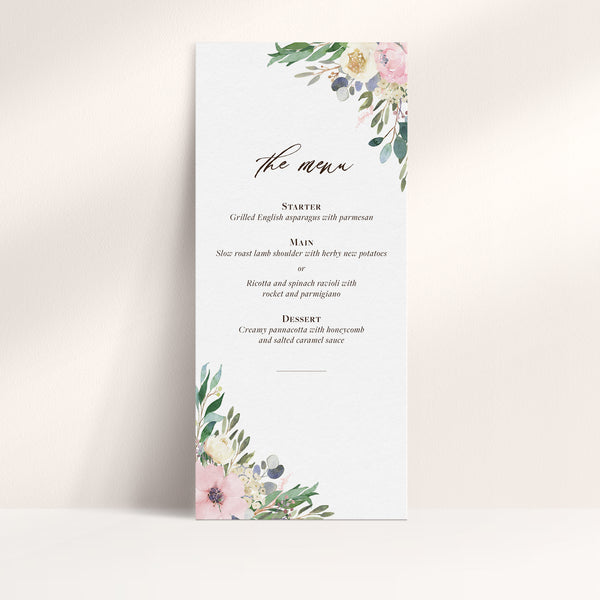Graceful Greenery Menu