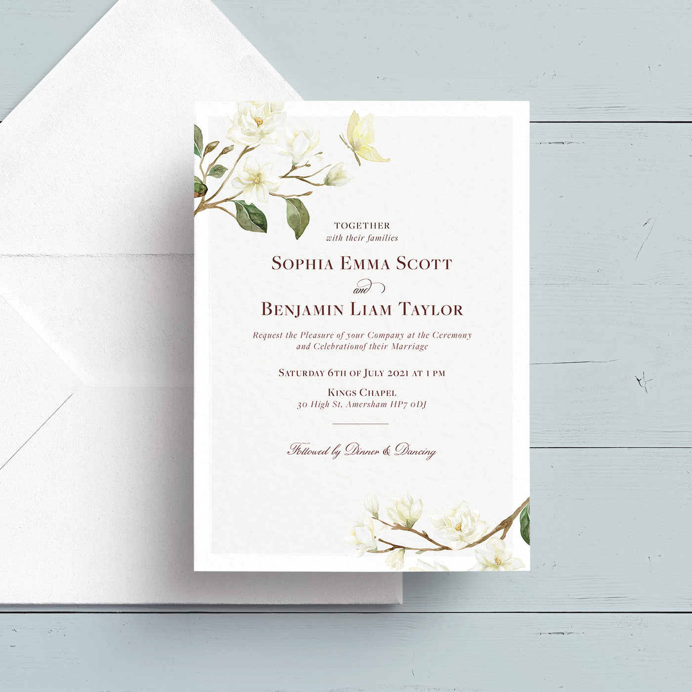 Magnolia Wedding Invite