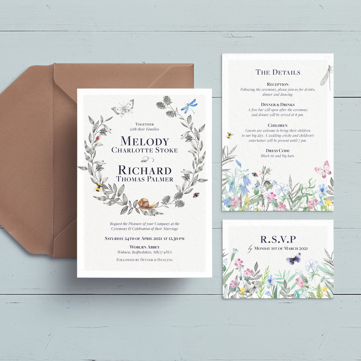 Meadow Wedding Invite