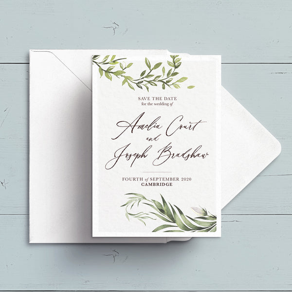 Simply Foliage Save the Date