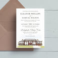 Your Venue Watercolour Wedding Invite