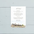 Your Venue Watercolour Reception Invite