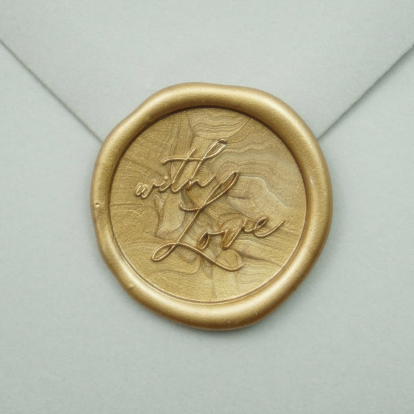 Handmade 'With Love' Wax Seal