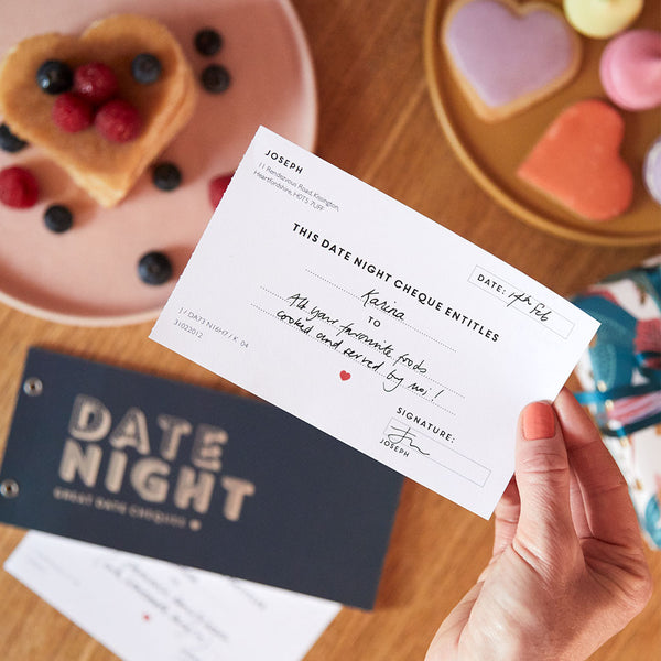 Personalised Date Night Cheques