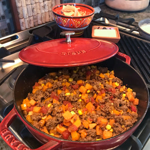 Ground Beef and Sweet Potato Taco Skillet