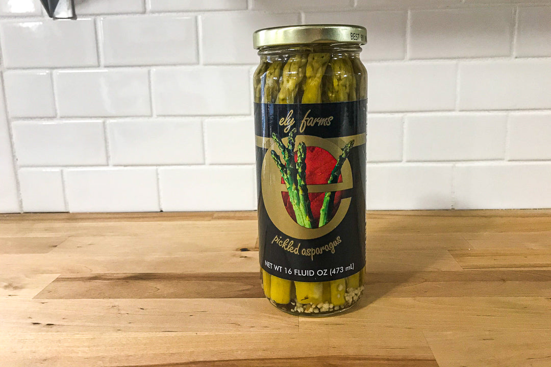 Ely Farms Pickled Asparagus -Japanese Wagyu from Raikes Beef in Nebraska