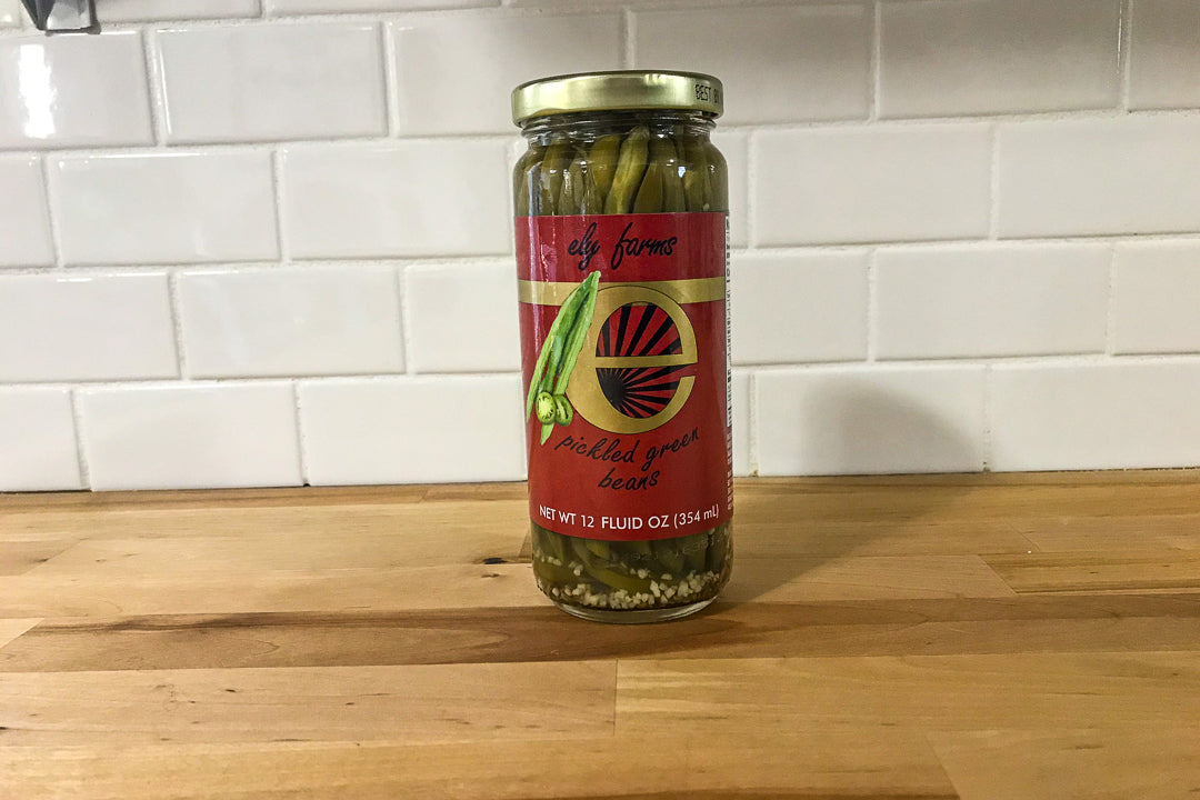 Ely Farms Pickled Green Beans -Japanese Wagyu from Raikes Beef in Nebraska