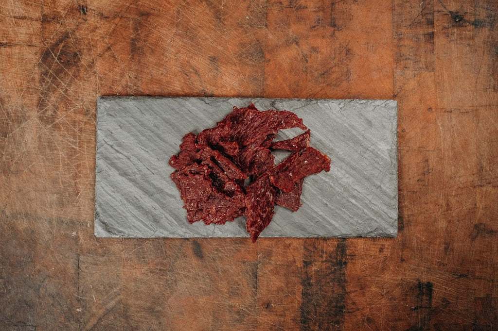 Premium Beef Jerky, Sweet and Hot -Japanese Wagyu from Raikes Beef in Nebraska