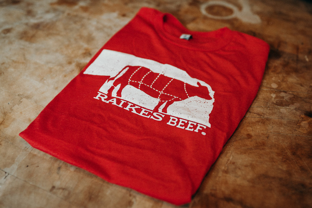 Nebraska T-shirt (Adult) - Raikes Beef Co.