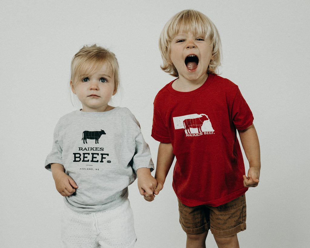 Nebraska T-shirt (Youth) -Japanese Wagyu from Raikes Beef in Nebraska