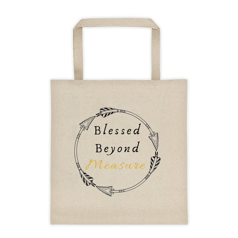 BLESSED BEYOND MEASURE Tote bag
