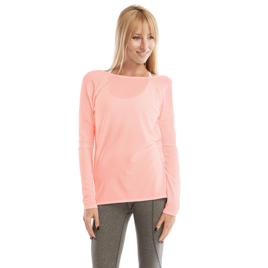 Charlotte nursing top, reversible, buttery soft, Peach, Pink - Sweat and Milk