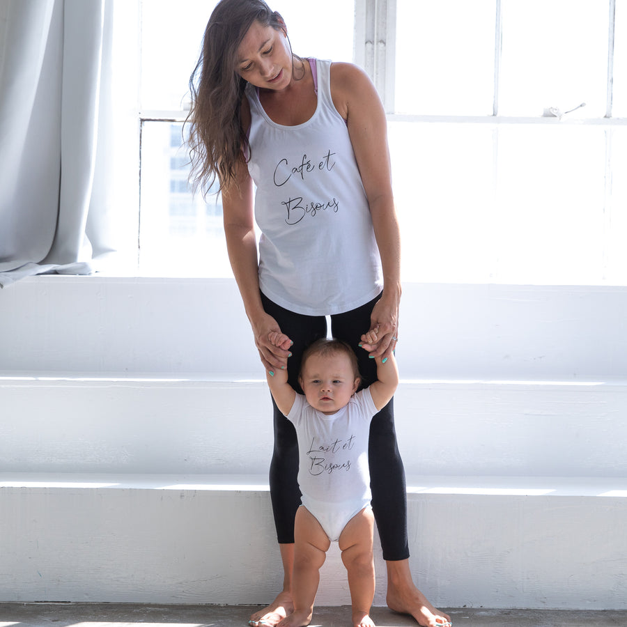 Cafe et Bisous Mommy and Me Top - Sweat and Milk LLC