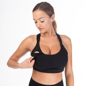 Chloé 3 Running Nursing Sports Bra (Noir)