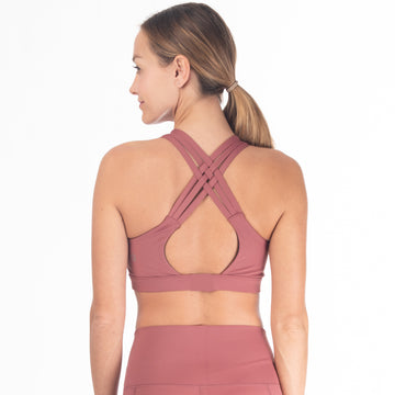 Chloé 3 Running Nursing Sports Bra (Dusty Pink)