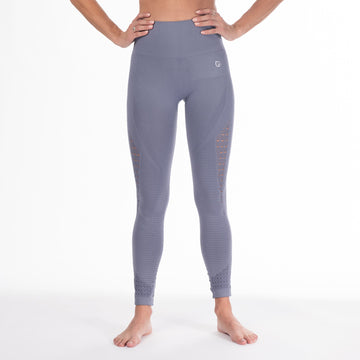 Malibu postpartum leggings, seamless, tummy control, High Waisted, blue, soft and stretchy