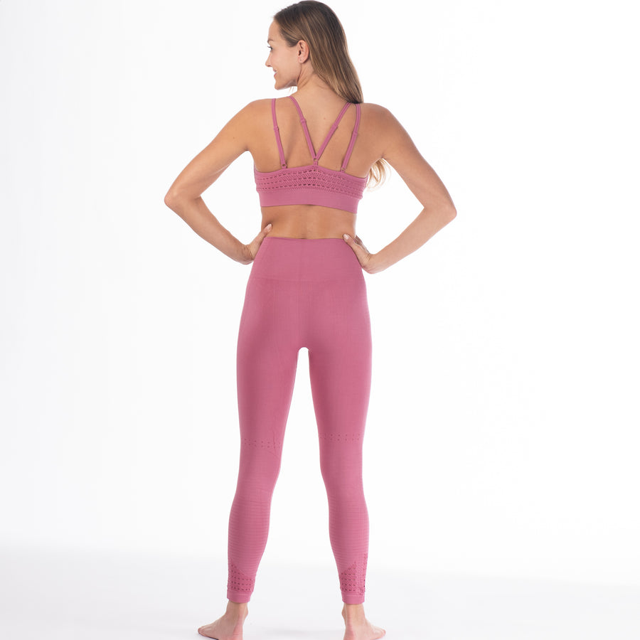 Malibu - Seamless High Waisted Legging (Wild Rose)