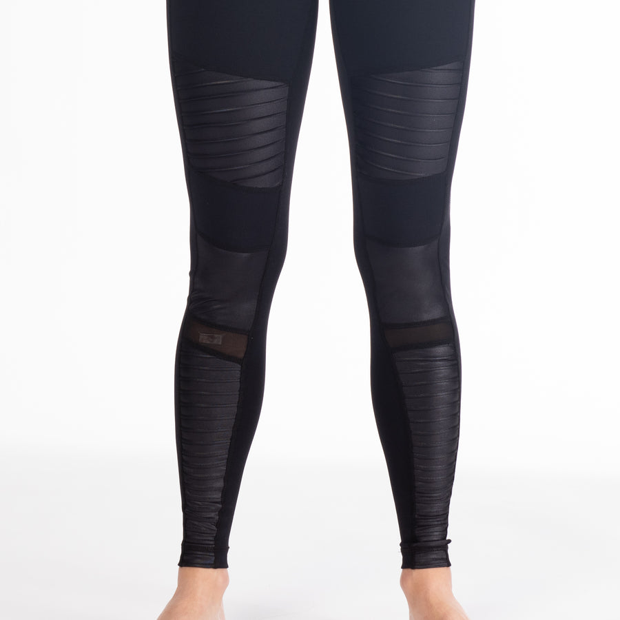 Bond Street Moto maternity legging, black, high waisted, stylish moto style for cool preggos - Sweat and Milk