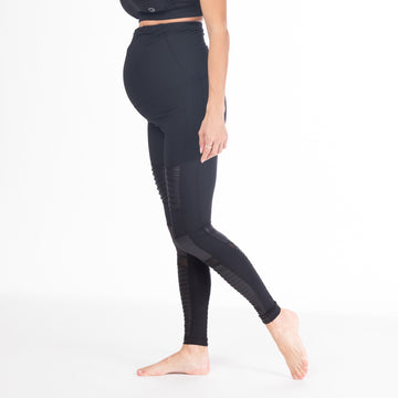 Bond Street Moto maternity black legging, high waisted, stylish and comfy moto style for cool pregnant women