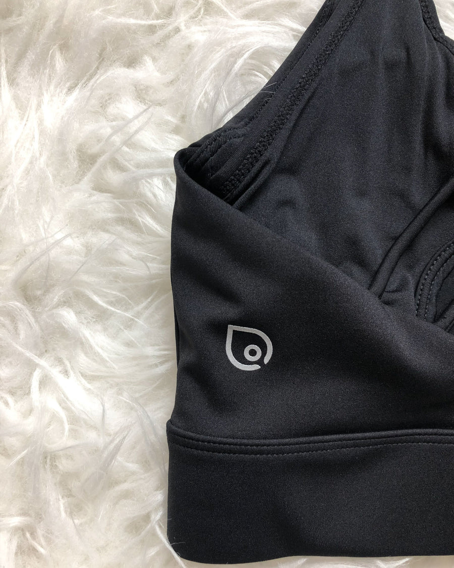 Océane - Exclusive Hands Free Pumping Sports Bra (Noir)