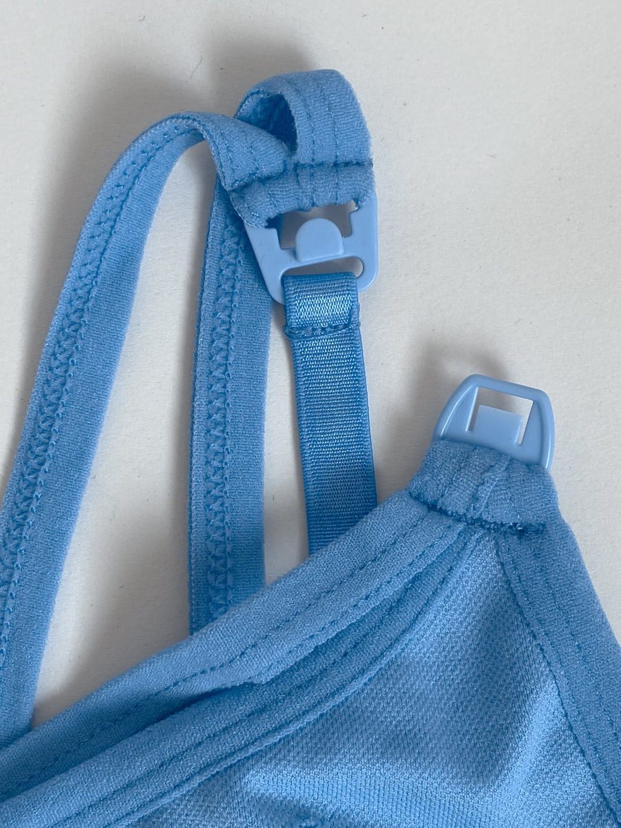 Malibu - Seamless Nursing Sports Bra (Blue Mist)-Sweat and Milk