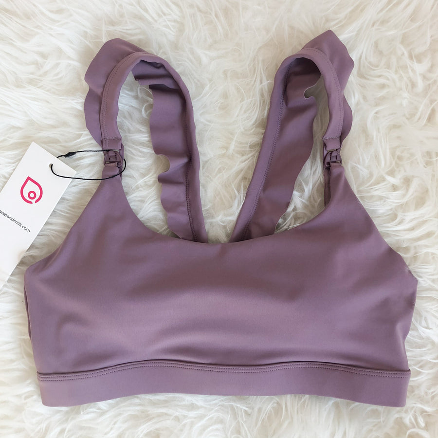 Lucie Nursing Sports Bra, Medium Impact, Supportive, largest chest, running, lavender