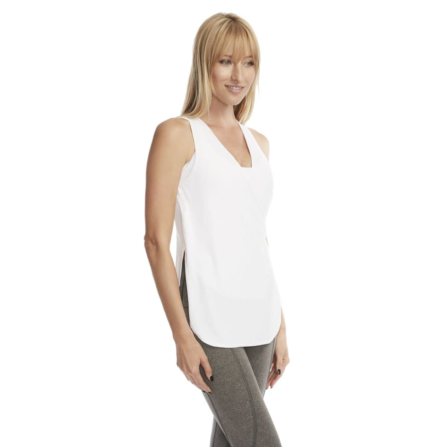 Chelsea Cutout Nursing Tank Top (Snow White)