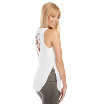 Chelsea Cutout Nursing Tank Top (Snow White) - S