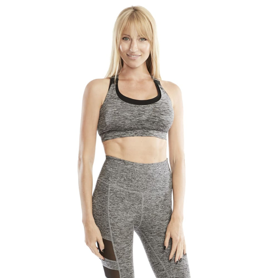 Chloé Running Nursing Sports Bra (Heather Gray) - Sweat and Milk LLC