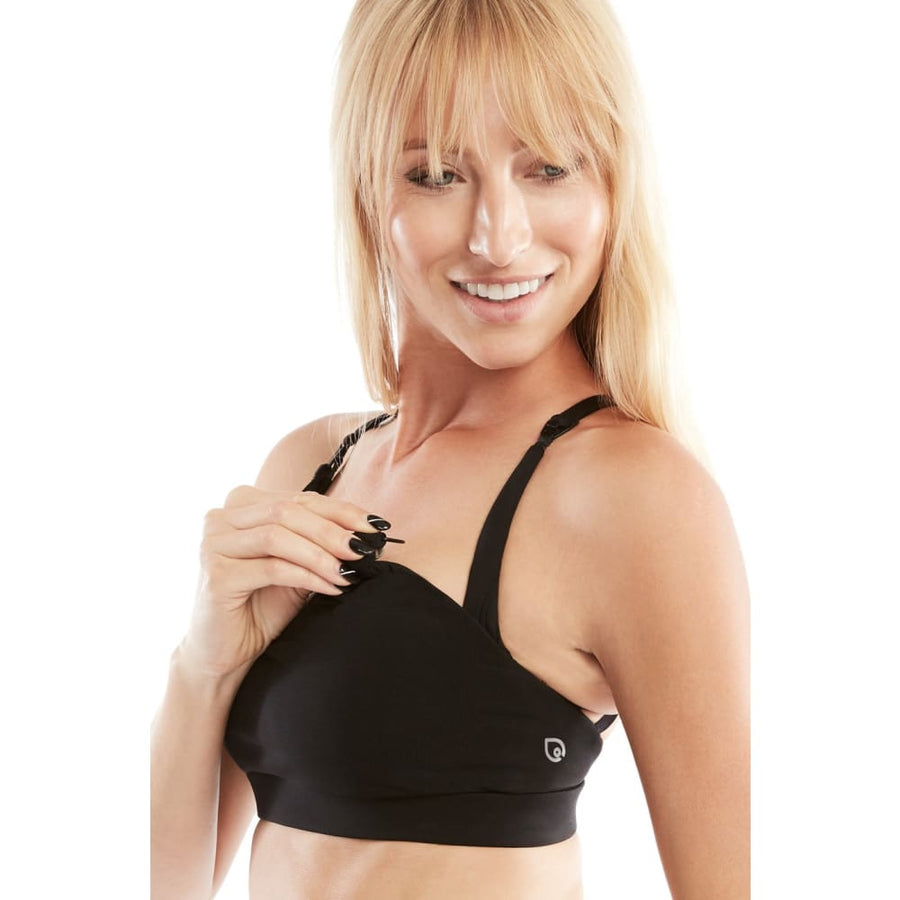Océane Yoga Nursing Sports Bra (Jet Black)
