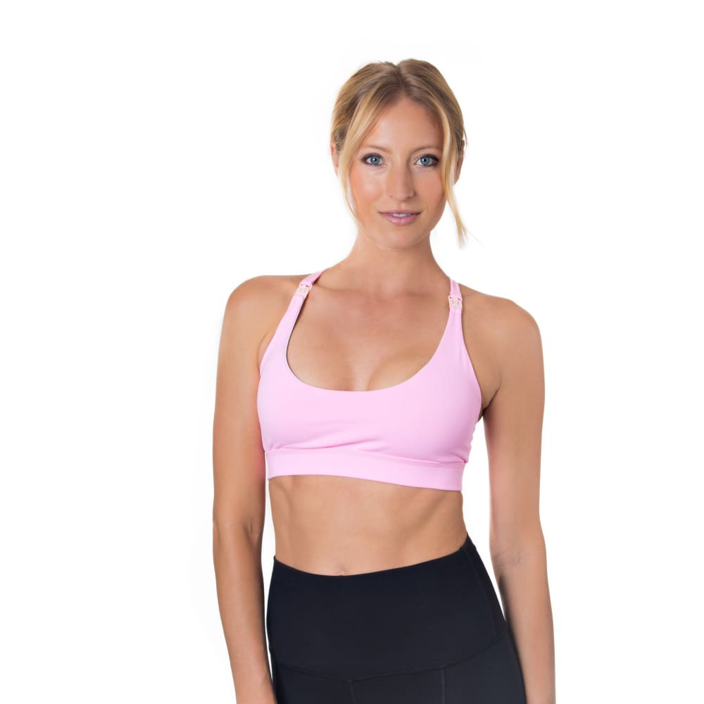 Océane Yoga Nursing Sports Bralette (Ballet Slipper) - Sweat and Milk LLC