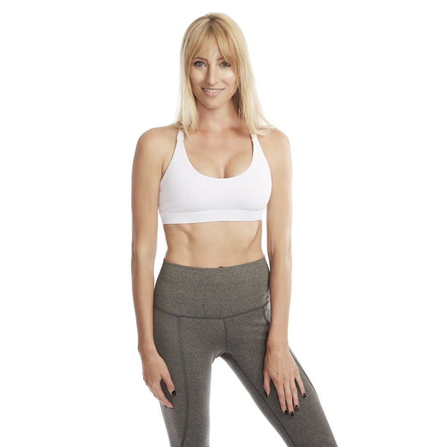 Océane Yoga Nursing Sports Bra (Snow White)