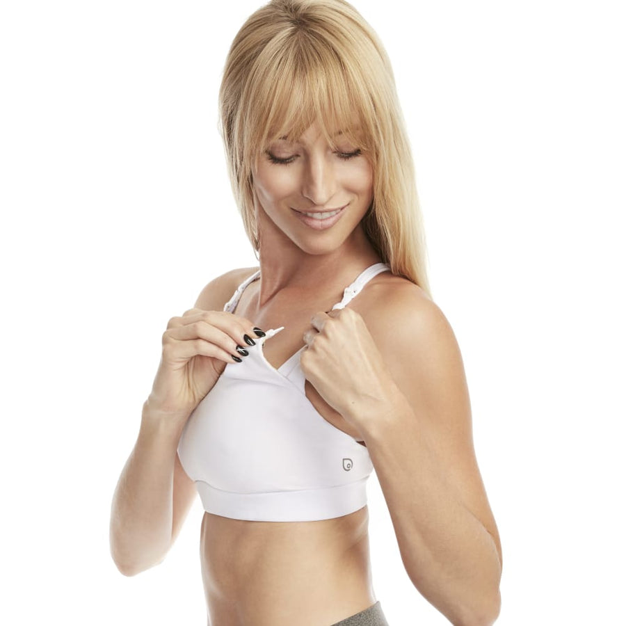 Océane Yoga Nursing Sports Bra (Snow White) - L