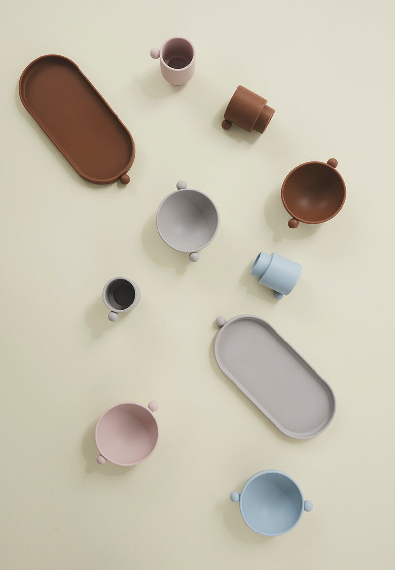 OYOY MINI Tiny Inka Skål - 2 stk Dining Ware 608 Dusty Blue / Clay