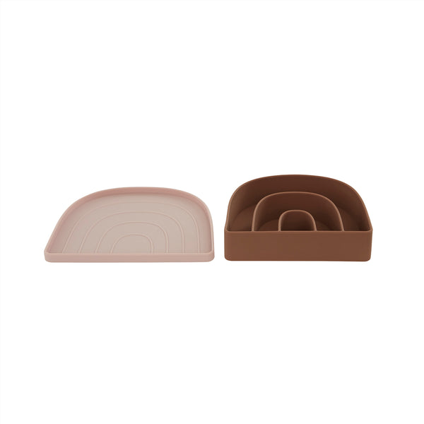 OYOY Living Design - OYOY MINI Rainbow Tallerken & Skål Dining Ware 402 Rose / Fudge