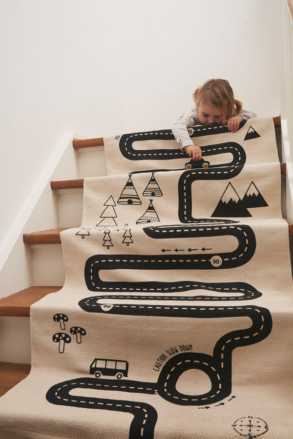 OYOY Living Design - OYOY MINI Adventure Tæppe Rug Råhvid