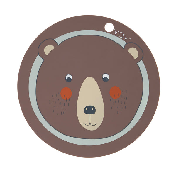 OYOY Living Design - OYOY MINI Bear Dækkeserviet Placemat Brun