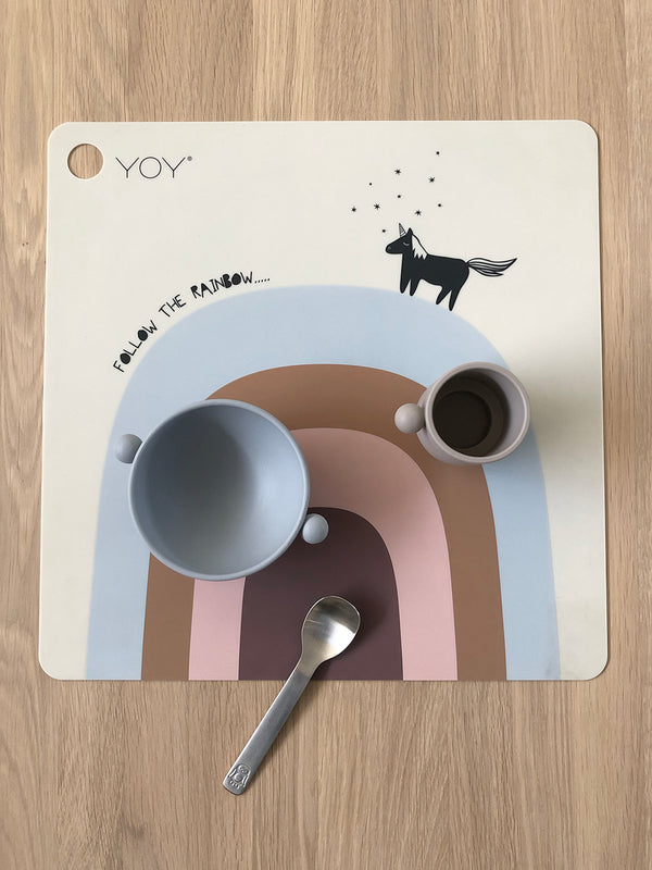 OYOY Living Design - OYOY MINI Dækkeserviet Follow The Rainbow Placemat Beige