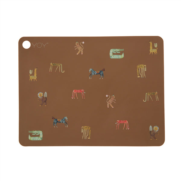OYOY Living Design - OYOY MINI Dækkeserviet Moira Placemat 302 Dark Camel