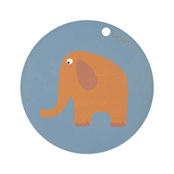 OYOY Living Design - OYOY MINI Elephant Dækkeserviet Placemat Tourmaline