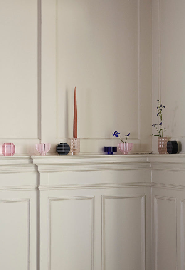 OYOY Living Design - OYOY LIVING Graphic Lysestage Candleholder Antracit