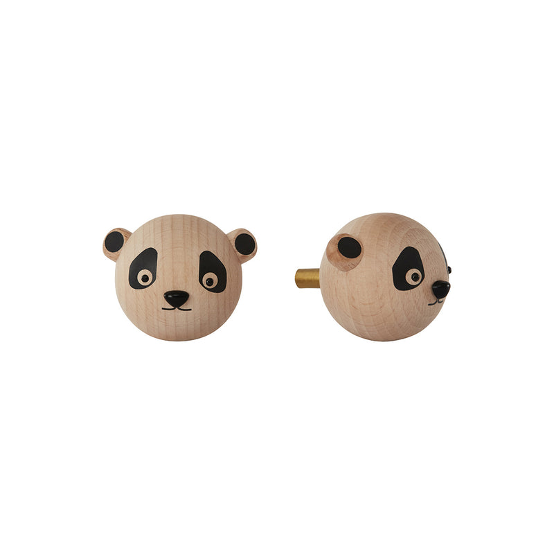 OYOY Living Design - OYOY MINI Mini Knage - Panda Hook Natur