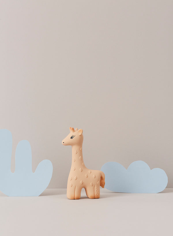 OYOY Living Design - OYOY MINI Noah Giraf Bidering Rubber Toy Gul