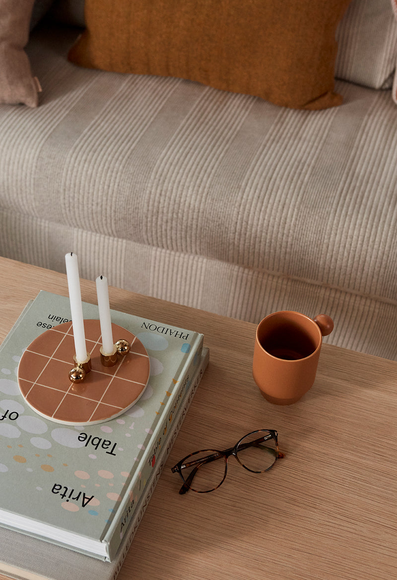 OYOY Living Design - OYOY LIVING Palloa Lysestage - Lille Candleholder Messing
